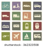 transportation label icons for... | Shutterstock .eps vector #362323508