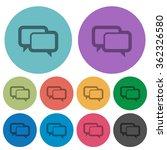color chat bubbles flat icon...