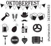 octoberfest icon set. german... | Shutterstock . vector #362330453