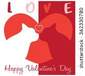 cat love valentine | Shutterstock .eps vector #362330780