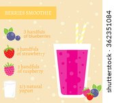 blueberry  strawberry and... | Shutterstock .eps vector #362351084