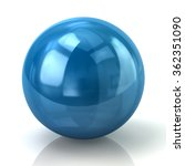 illustration of blue sphere... | Shutterstock . vector #362351090