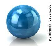 Illustration Of Blue Sphere...