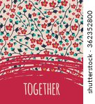 valentine vector template.... | Shutterstock .eps vector #362352800
