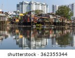 views of the city's slums from... | Shutterstock . vector #362355344