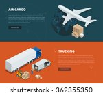 logistic concept flat banners... | Shutterstock .eps vector #362355350