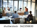 business people meeting... | Shutterstock . vector #362358830
