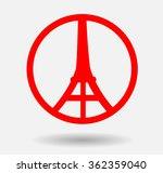pray for paris | Shutterstock .eps vector #362359040