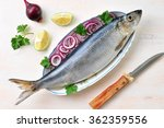 Stock photo herring with red onion lime and parsley 362359556