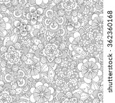 hand drawn flowers seamless... | Shutterstock .eps vector #362360168