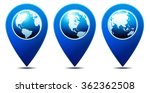 location pointer with world... | Shutterstock .eps vector #362362508