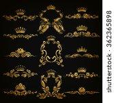 set of gold monogram for... | Shutterstock .eps vector #362365898