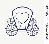 vector wedding outline carriage ... | Shutterstock .eps vector #362366534