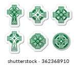 irish  scottish celtic cross on ... | Shutterstock .eps vector #362368910