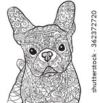 Hand Drawn Dog Bulldog ....