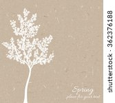 vector silhouette spring tree ... | Shutterstock .eps vector #362376188
