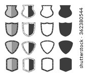 set of shields for your design. | Shutterstock . vector #362380544