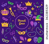set of mardi gras design... | Shutterstock .eps vector #362385329