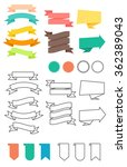 ribbons set in flat and line...   Shutterstock .eps vector #362389043