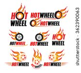 hot wheel  racing flat labels... | Shutterstock .eps vector #362390063