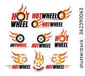 hot wheel  racing flat labels... | Shutterstock .eps vector #362390063