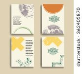 set of  grunge vector brochure... | Shutterstock .eps vector #362405870