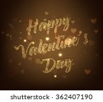 valentines day vector lettering ...   Shutterstock .eps vector #362407190