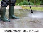 outdoor floor cleaning with... | Shutterstock . vector #362414063