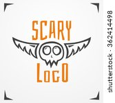 grungy skull with wings and... | Shutterstock .eps vector #362414498