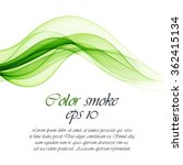 abstract green wavy background | Shutterstock .eps vector #362415134