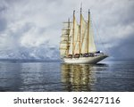 Sailing Ship And The Stormy Sk...