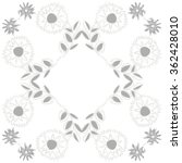 floral pattern  doodles zigzag  ... | Shutterstock .eps vector #362428010