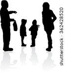 vector silhouette of family. | Shutterstock .eps vector #362428520