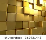 Golden Boxes Abstract Surface...