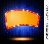 shining retro casino banner on... | Shutterstock .eps vector #362431814