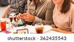 guest open gift at a wedding... | Shutterstock . vector #362435543