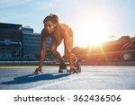 confident female athlete in...   Shutterstock . vector #362436506
