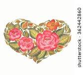 valentines day  vintage heart... | Shutterstock . vector #362442860