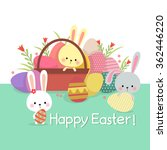 easter illustration with... | Shutterstock .eps vector #362446220