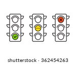 traffic light interface icons.... | Shutterstock .eps vector #362454263