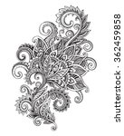 vector hand drawn ornate flower ... | Shutterstock .eps vector #362459858
