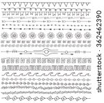ornaments doodle. hand drawn... | Shutterstock .eps vector #362462390
