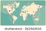world map vector with flight... | Shutterstock .eps vector #362463410
