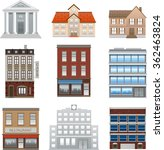 buildings icons isolated vector ... | Shutterstock .eps vector #362463824