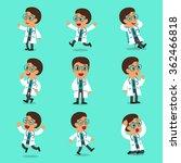 cartoon male doctor character... | Shutterstock .eps vector #362466818