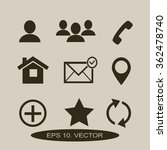 contact icons | Shutterstock .eps vector #362478740