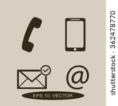 contact buttons set   email ... | Shutterstock .eps vector #362478770
