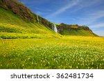 seljalandsfoss waterfall and... | Shutterstock . vector #362481734