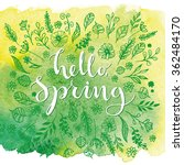 hello  spring. card template... | Shutterstock .eps vector #362484170