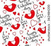 valentines day seamless pattern ... | Shutterstock .eps vector #362484200